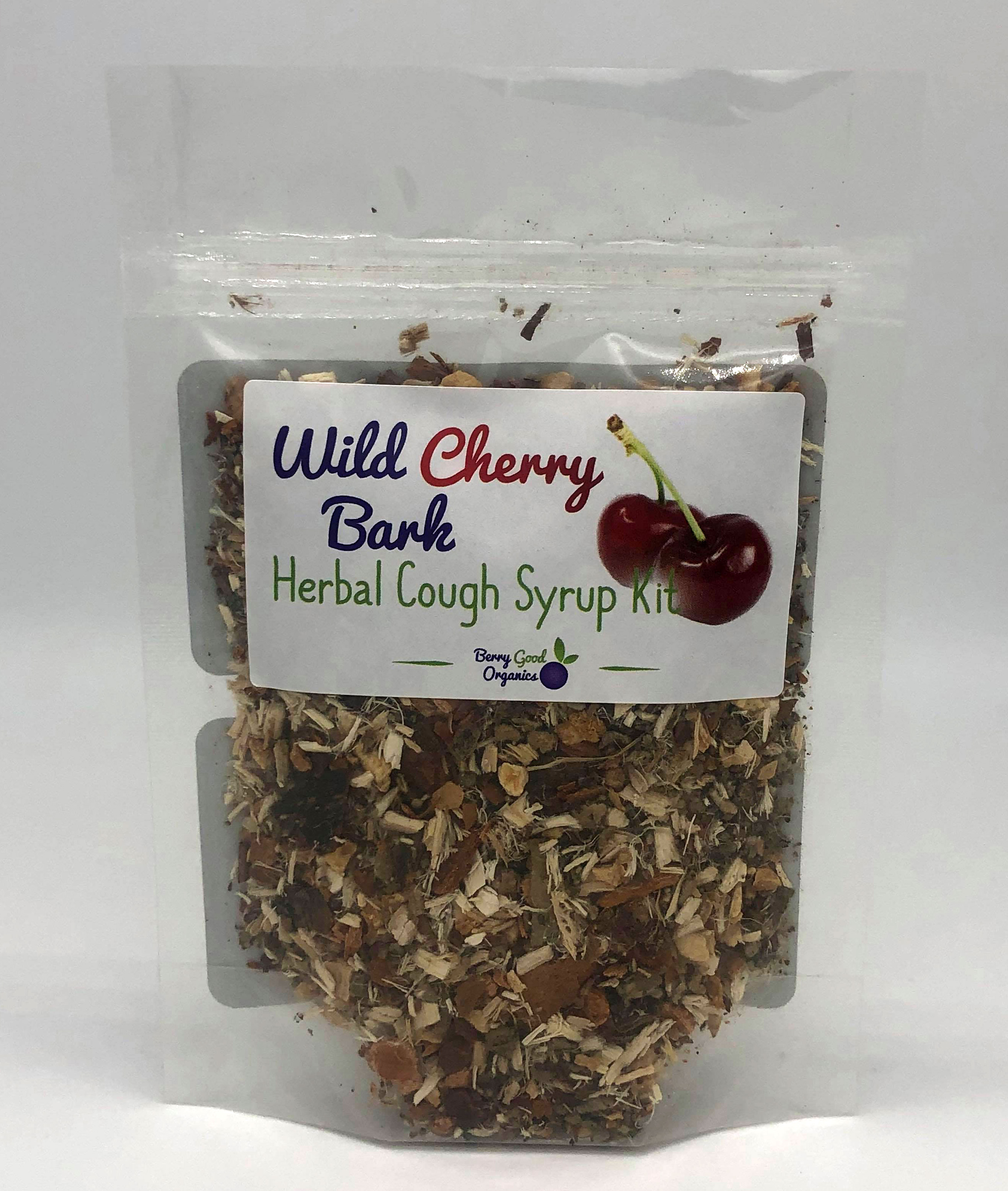 Wild Cherry Bark herbal cough syrup kit