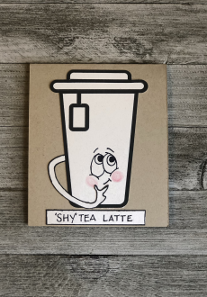 """SHY"" TEA LATTE"